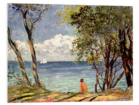 Foam board print  Beside the Water - Emile Alfred Dezaunay