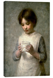 Canvas print  Girl with a silverfish, 1889 - William Robert Symonds