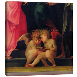 Canvas  Two cherubs reading, detail from Madonna and Child with Saints, 1518 - Giovanni Battista Rosso Fiorentino