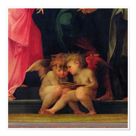 Premium poster Two putti are reading, 1518