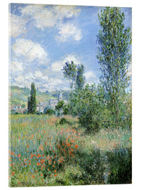 Acrylic glass  Way through the poppies - Claude Monet