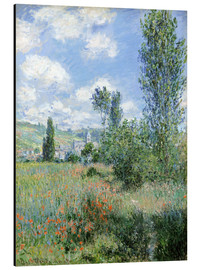 Aluminium print  Way through the poppies - Claude Monet