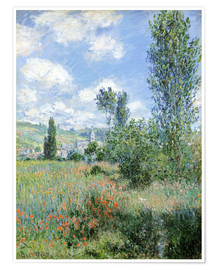 Poster  Way through the poppies - Claude Monet