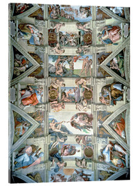Acrylic glass  Sistine Chapel ceiling and lunettes - Michelangelo