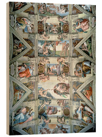 Wood print  Sistine Chapel ceiling and lunettes - Michelangelo
