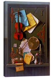 Canvas print  The Old Cupboard Door - William Michael Harnett