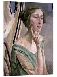 Acrylic glass  Portrait of Edith Sitwell , 1915 - Roger Fry