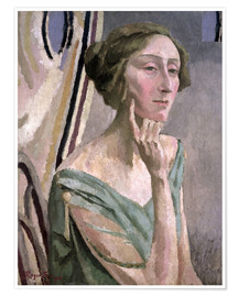 Premium poster Portrait of Edith Sitwell , 1915