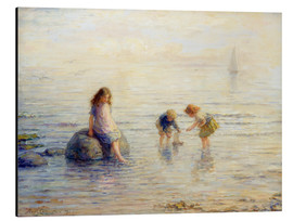 Aluminium print  Sailing the Toy Boat, 1897 - Hugh Cameron