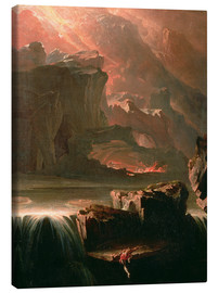 Canvas print  Sadak in search of the waters of oblivion, 1812 - John Martin