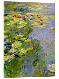 Acrylic glass  The lily pond - Claude Monet