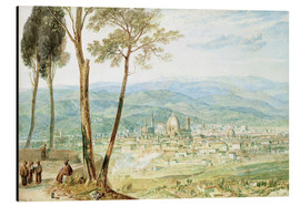 Aluminium print  Florence from the road to Fiesole - Joseph Mallord William Turner
