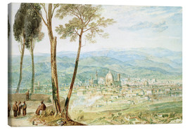 Canvas print  Florence from the road to Fiesole - Joseph Mallord William Turner