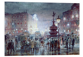 Foam board print  Piccadilly Circus at Night, 1911 - Thomas Prytherch