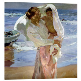Acrylic print  Just out of the sea - Joaquin Sorolla y Bastida