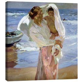 Canvas  Just Out of the Sea - Joaquin Sorolla y Bastida