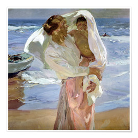 Premium poster  Just out of the sea - Joaquin Sorolla y Bastida