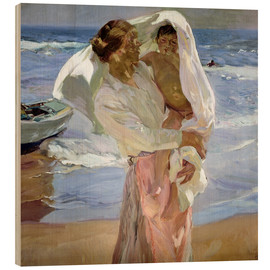 Wood  Just out of the sea - Joaquin Sorolla y Bastida