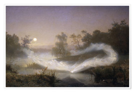 Premium poster  Dancing fairies - August Malmstrom