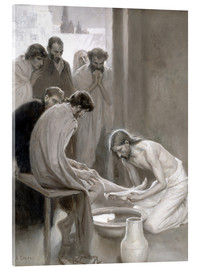 Acrylic print  Jesus washes the feet of his disciples - Albert Edelfelt