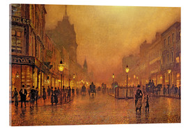 Acrylic print  A street at night - John Atkinson Grimshaw