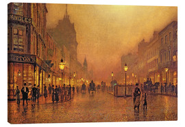 Canvas print  A street at night - John Atkinson Grimshaw