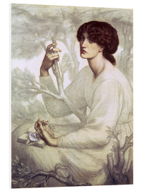 Foam board print  The Day Dream, study - Dante Charles Gabriel Rossetti