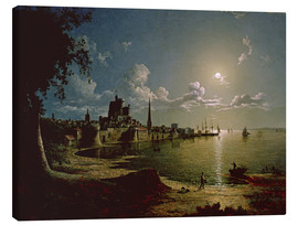 Canvas  Moonlight Scene, Southampton - Sebastian Pether
