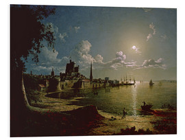 Foam board print  Moonlight Scene, Southampton - Sebastian Pether