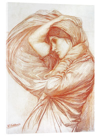 Acrylic print  Study for Boreas - John William Waterhouse