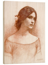 Wood print  Study for The Lady Clare - John William Waterhouse