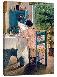 Canvas print  At Breakfast, 1898 - Laurits Andersen Ring