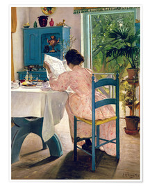 Premium poster  At Breakfast - Laurits Andersen Ring