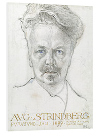 Foam board print  August Strindberg - Carl Larsson