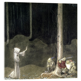 Acrylic print  Brother St. Martin and the Three Trolls - John Bauer