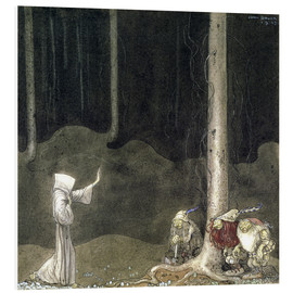 Foam board print  Brother St. Martin and the Three Trolls - John Bauer