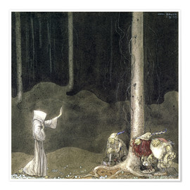 Poster  Brother St. Martin and the Three Trolls - John Bauer