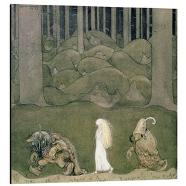 Aluminium print  The Princess and the Trolls, 1913 - John Bauer
