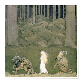 Poster  The Princess and the Trolls, 1913 - John Bauer