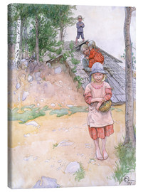 Canvas print  By the cellar - Carl Larsson