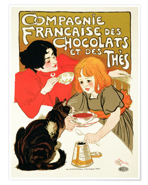 Poster  French Company of Chocolate and Tea - Théophile-Alexandre Steinlen