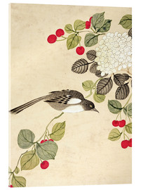 Acrylic print  Birds and berries, late 19th century - Wang Guochen