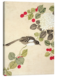 Canvas print  Birds and berries, late 19th century - Wang Guochen