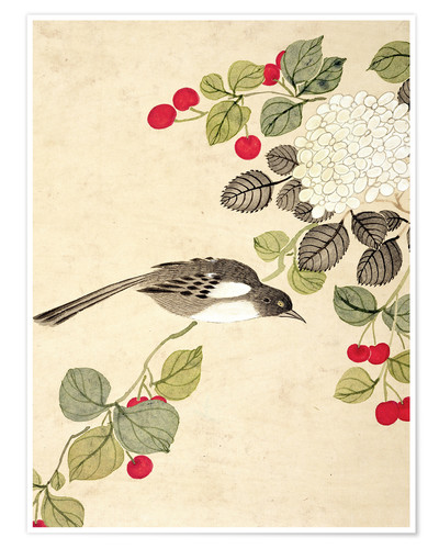 Premium poster Birds and berries, late 19th century