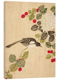 Wood  Birds and berries, late 19th century - Wang Guochen