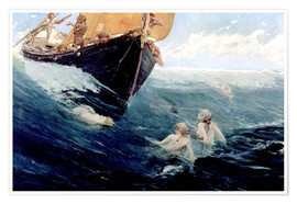 Premium poster  Mermaids Rock, 1894 - Edward Matthew Hale