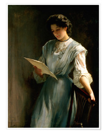 Poster  Reading the Letter - Thomas Benjamin Kennington