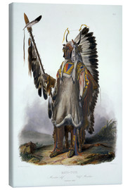 Canvas  Mato-Tope, chief of the Mandan - Karl Bodmer