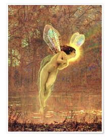 Premium poster  Iris, detail of the fairy - John Atkinson Grimshaw