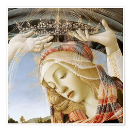 Premium poster Madonna of the Magnificat (detail)